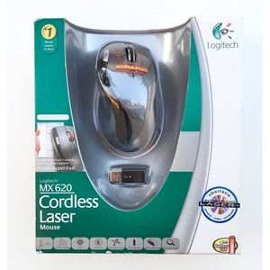 Logitech MX620 Black Cordless Wireless Laser Mouse